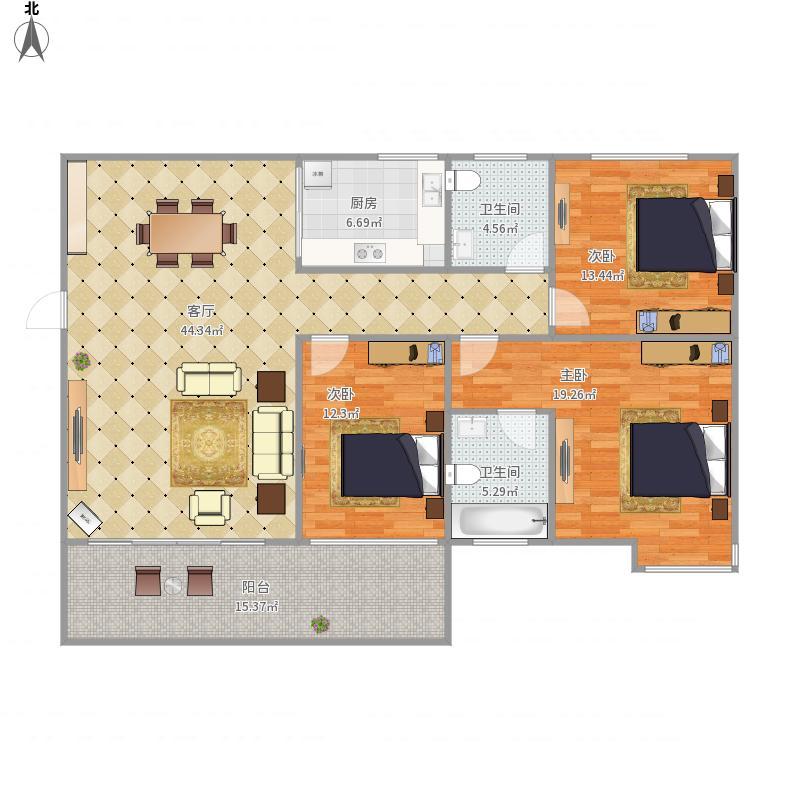 皇朝福邸1栋0306户型
