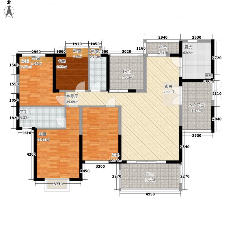 熙园山院167.00㎡户型4室