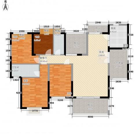 熙园山院4室1厅2卫1厨155.00㎡户型图