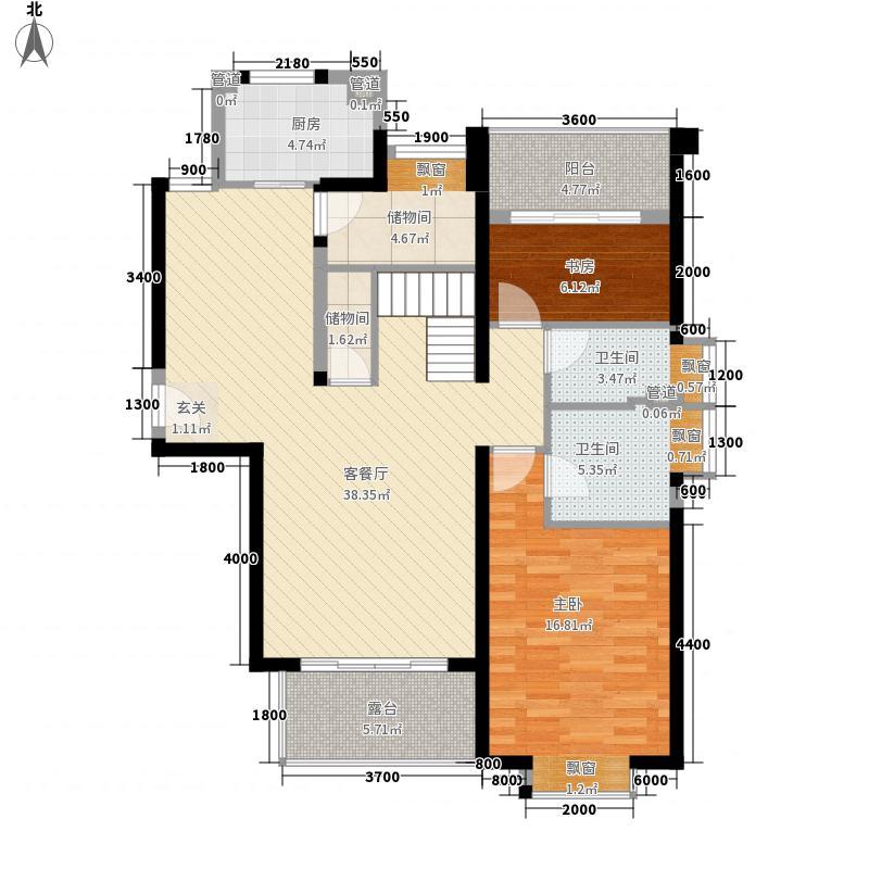 ��温莎公馆11.20㎡2#B梯3203户型4室2厅3卫1厨