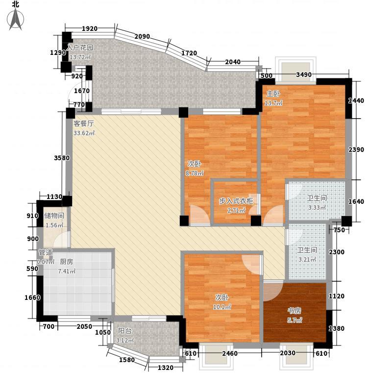 东方高尔夫花园151.00㎡东方高尔夫花园4室户型4室