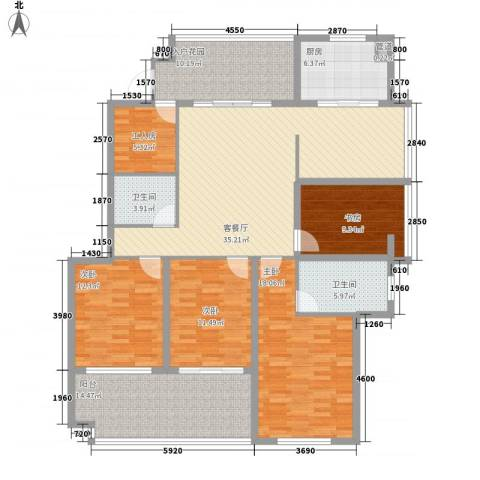 江畔芳庭4室1厅2卫1厨240.00㎡户型图