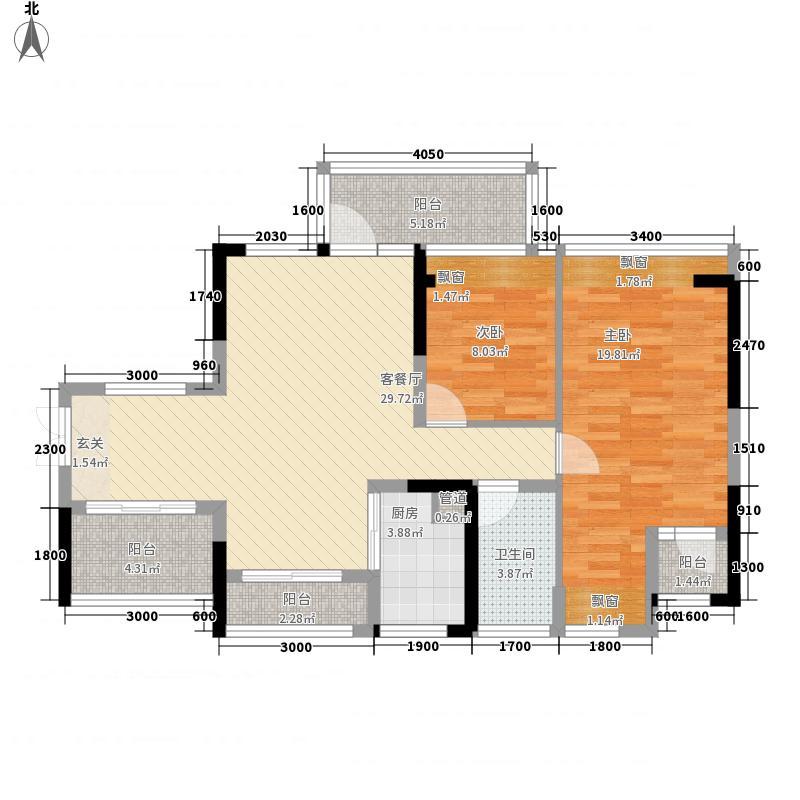 太东・棕榈泉12.00㎡6栋04户型3室2厅1卫1厨