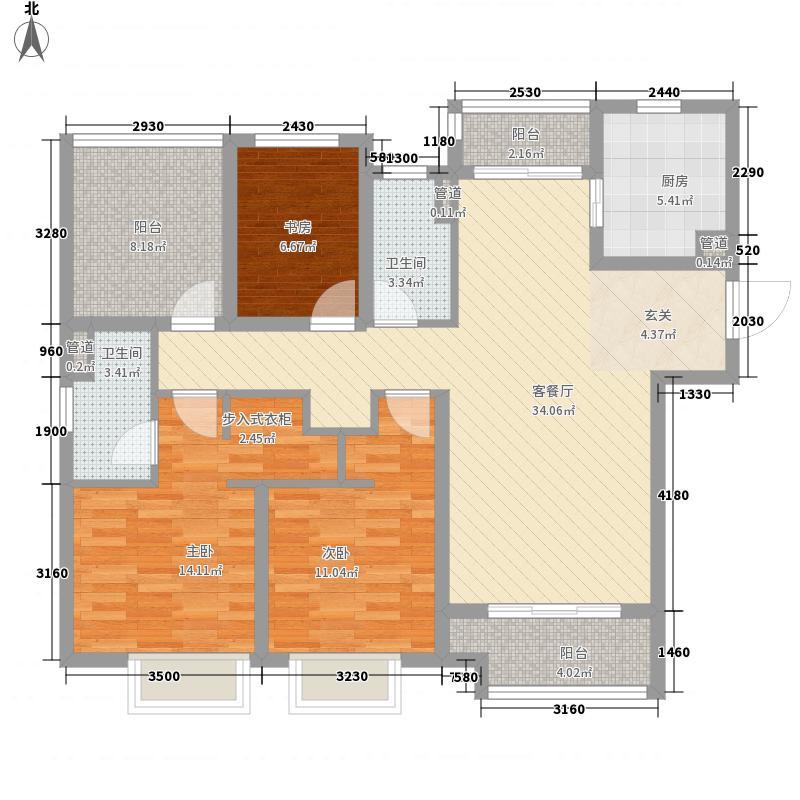 红星国际生活广场二期高层8#标准层E户型