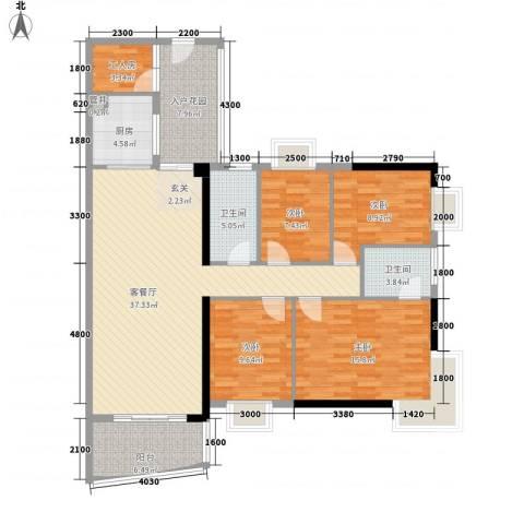 润宇豪庭4室1厅2卫1厨136.00㎡户型图