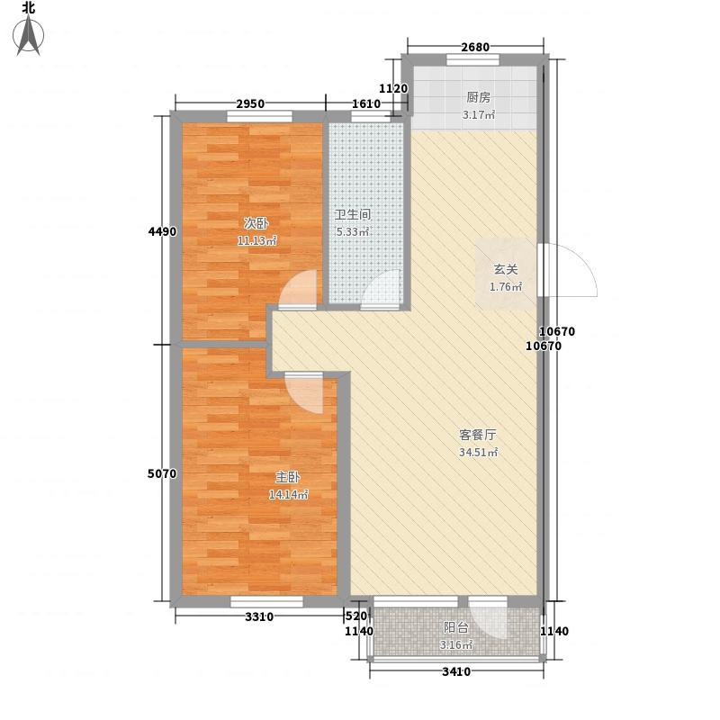 西山逸林95.23㎡西山逸林户型图户型图2室2厅1卫1厨户型2室2厅1卫1厨