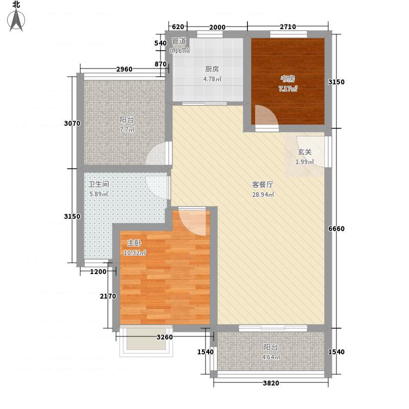 红星国际生活广场二期高层9#标准层D户型