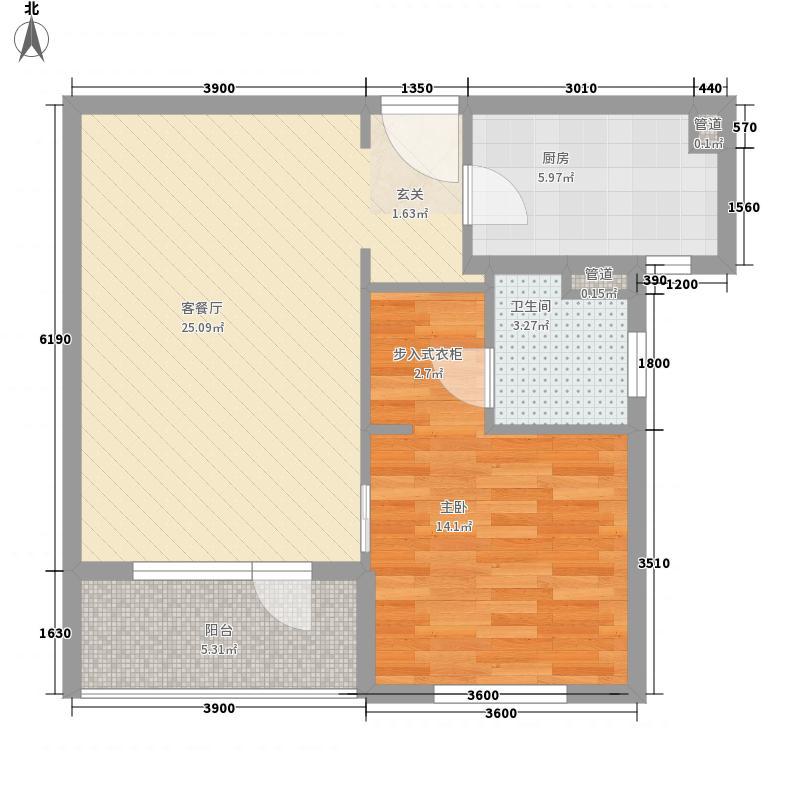 金顶花园77.00㎡户型1室