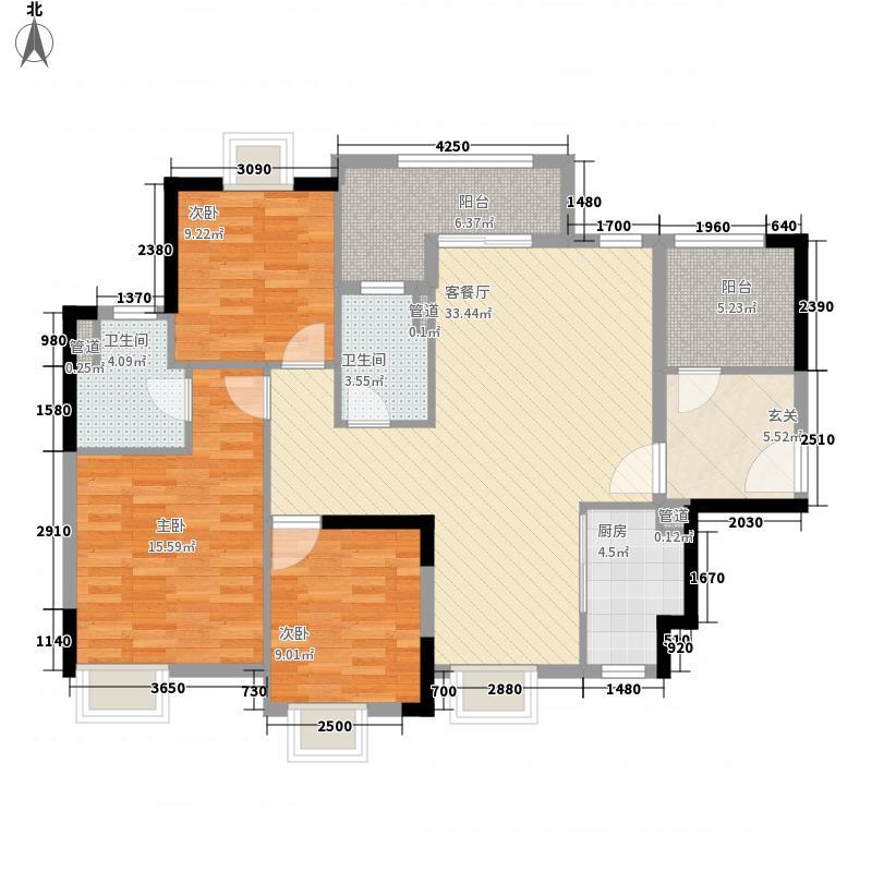 锦龙湾畔121.00㎡G户型4室2厅2卫1厨