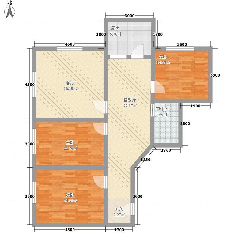 百合园100.76㎡百合园100.76㎡3室2厅1卫1厨户型3室2厅1卫1厨