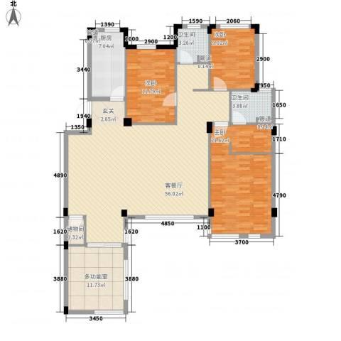 万科假日风景3室1厅2卫1厨158.00㎡户型图