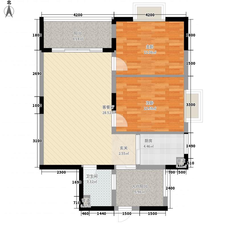 万泰东方户型2室2厅2卫1厨