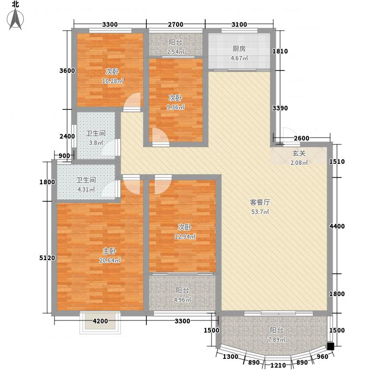 瑞丰花园4jpg户型4室2厅1卫1厨
