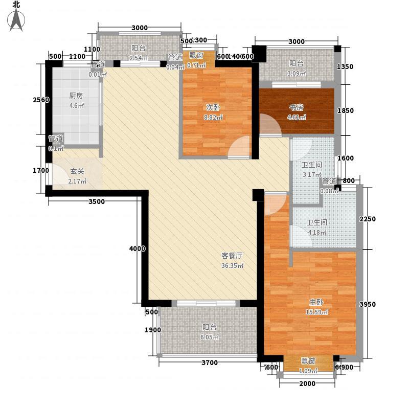 ��温莎公馆11.30㎡4#A梯04单元B梯01单元户型3室2厅2卫1厨