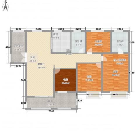 中建・城中壹号公馆4室1厅2卫1厨186.00㎡户型图