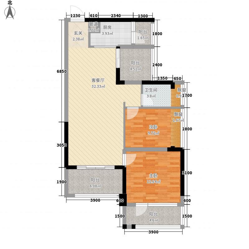 太东・棕榈泉4.00㎡1栋042-30偶数层户型3室2厅1卫1厨