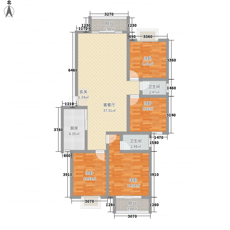 宝莲大厦142.30㎡12#1单元L户型4室2厅2卫1厨