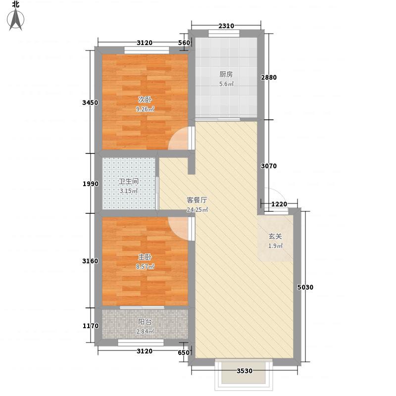 侨立广场78.00㎡侨立广场2室户型2室