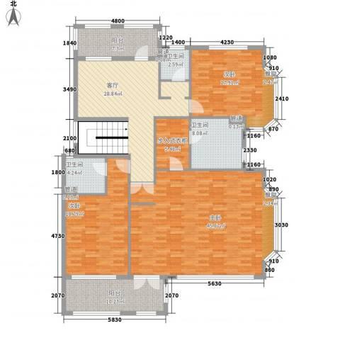 大唐世家(集美)3室1厅3卫0厨165.83㎡户型图