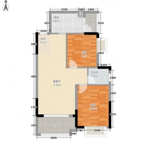 威远住宅小区2室1厅1卫1厨94.00㎡户型图
