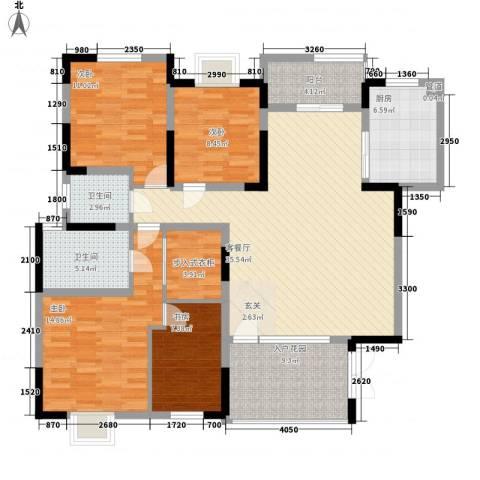 惠泽家园4室1厅2卫1厨157.00㎡户型图