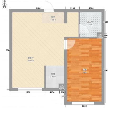 圣罗伦斯1室1厅1卫0厨49.95㎡户型图