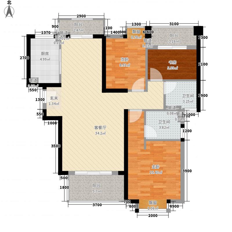 ��温莎公馆118.85㎡1#A梯03单元B梯01单元户型3室2厅2卫1厨