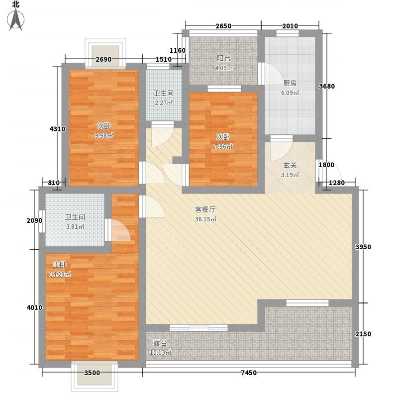 沙龙花园138.00㎡户型4室