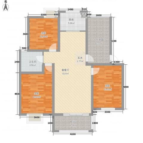 春晖佳园3室1厅1卫1厨143.00㎡户型图