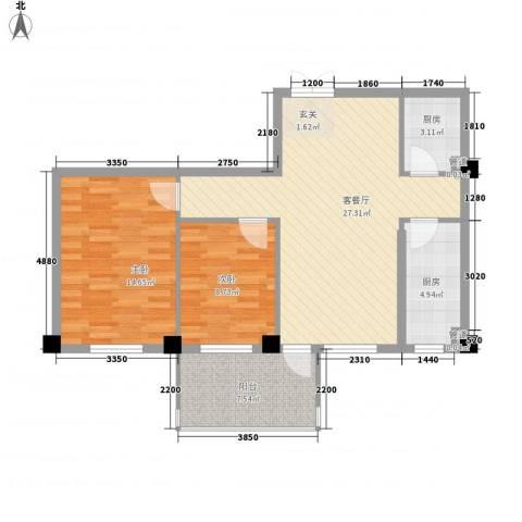 梅福苑2室1厅0卫2厨93.00㎡户型图