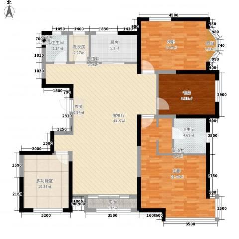 万都城3室1厅2卫1厨165.00㎡户型图