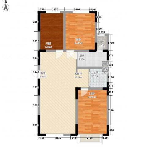 富腾天下城3室1厅1卫1厨113.00㎡户型图