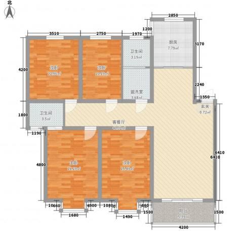 嘉和苑4室1厅2卫1厨141.00㎡户型图