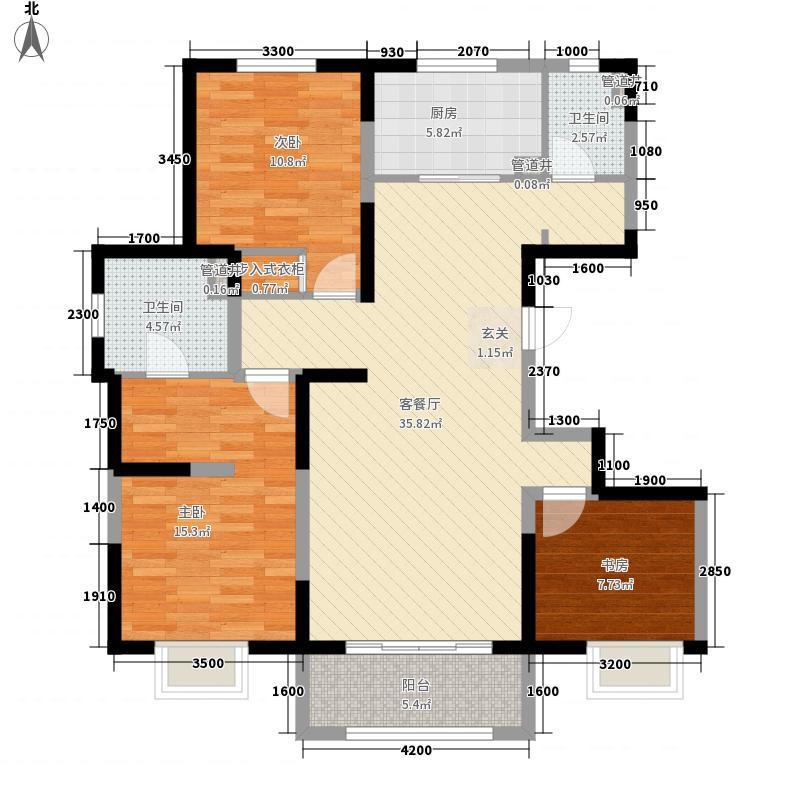 万都城125.00㎡4#F户型3室2厅2卫1厨