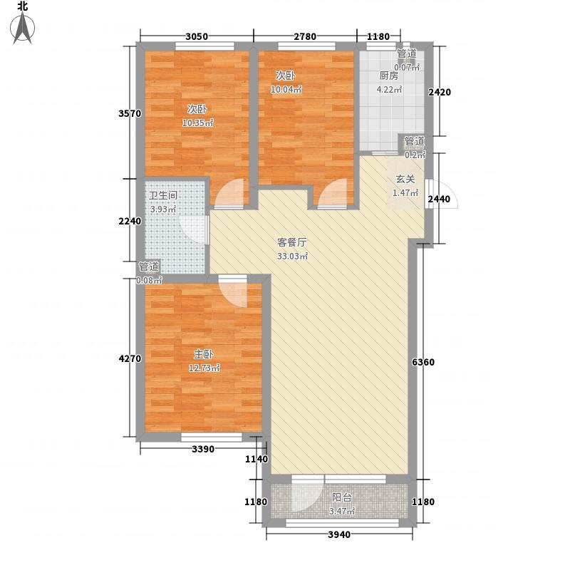 苏堤春晓111.00㎡户型3室
