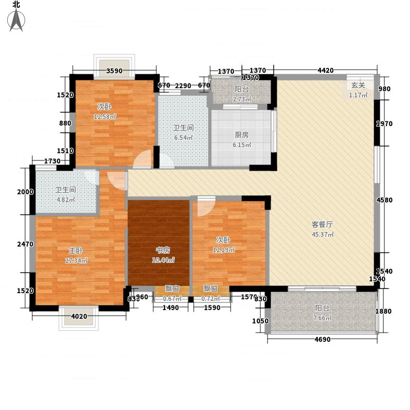 中天国际174.00㎡8户型3室2厅2卫