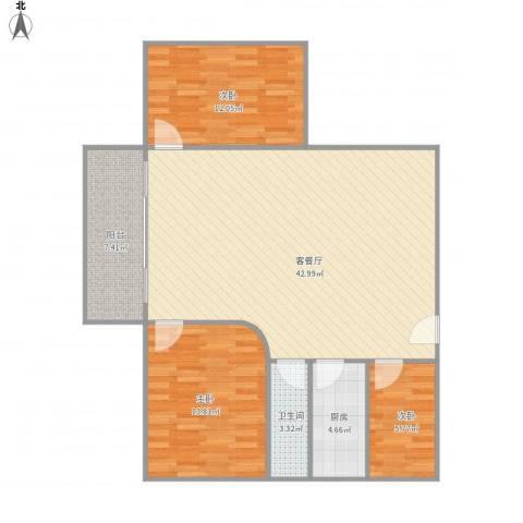 东湖花园三区302栋1单元10713室1厅1卫1厨120.00㎡户型图