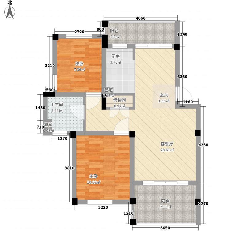 绿色家园90.98㎡普通住宅10#楼9面积9098m户型