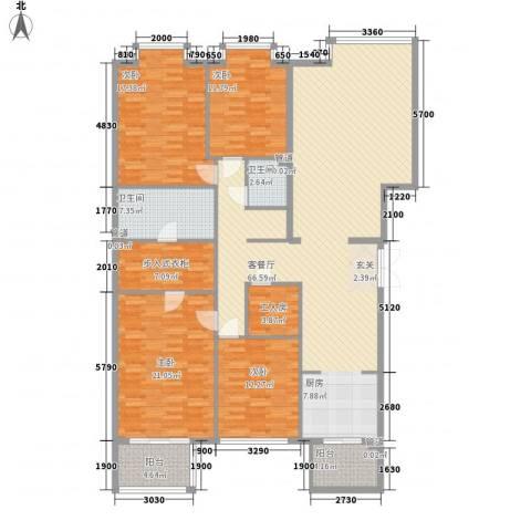 巴克寓所4室1厅2卫0厨220.00㎡户型图