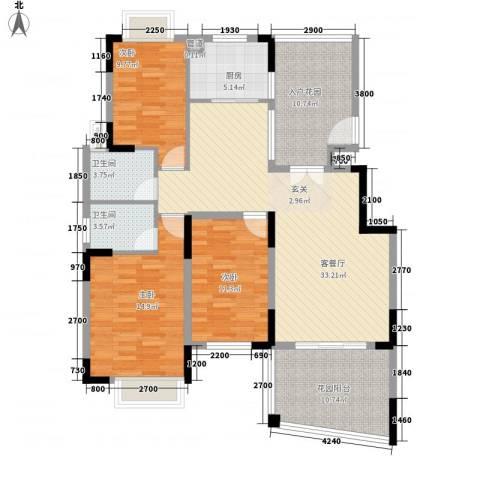 山水芳邻3室1厅2卫1厨147.00㎡户型图