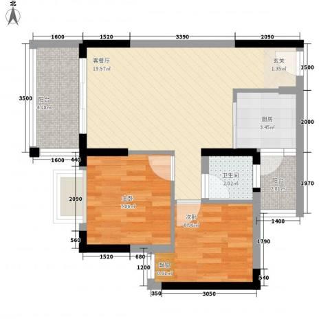 合和人家2室1厅1卫1厨68.00㎡户型图
