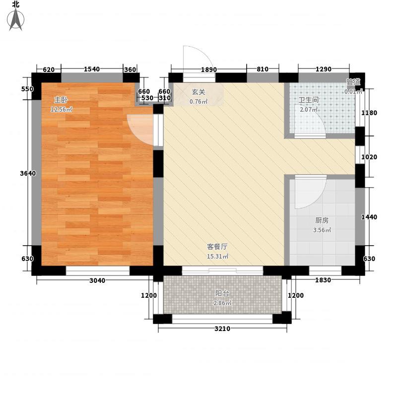怡庭美苑5.75㎡一期A户型1室1厅1卫