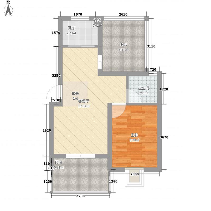世纪尊园64.10㎡B1户型1室1卫1厨