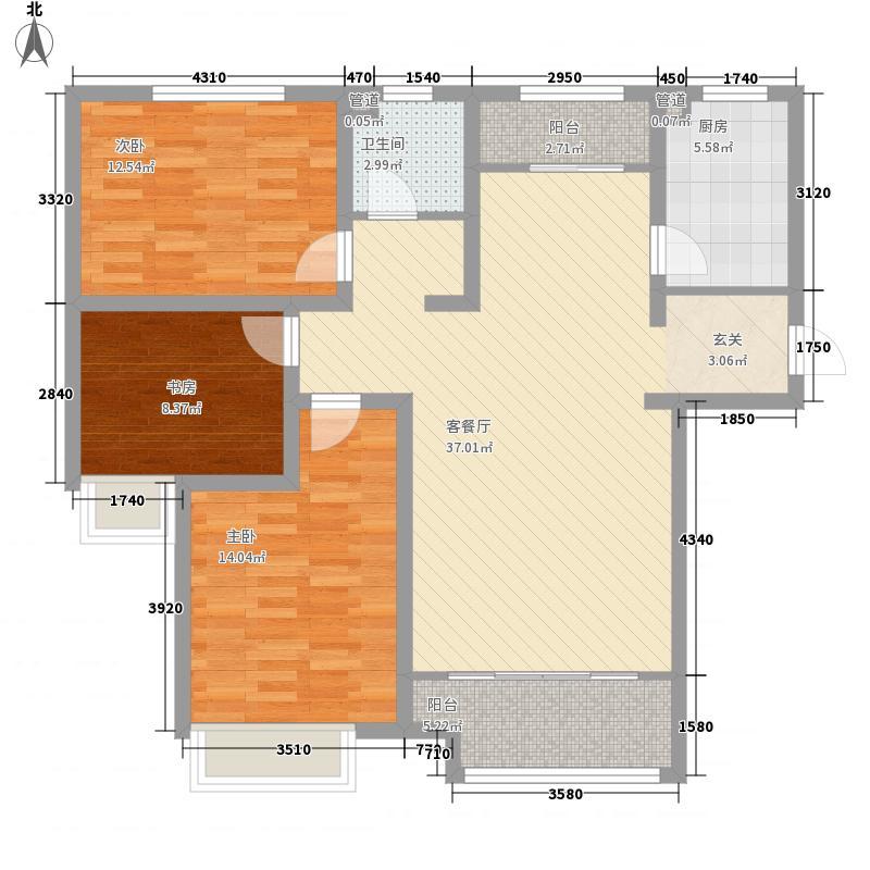 泉景天沅和园雅园127.00㎡户型3室