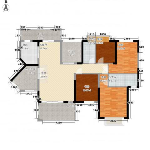 熙园山院4室1厅2卫1厨149.95㎡户型图