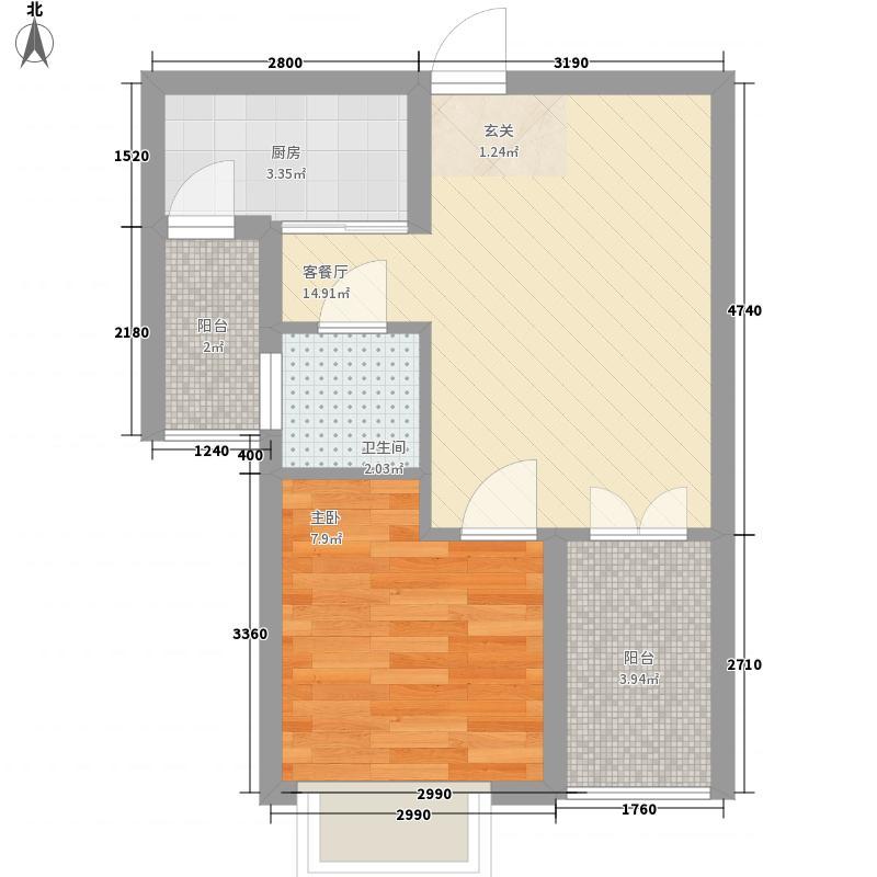 天瑞国际户型1室