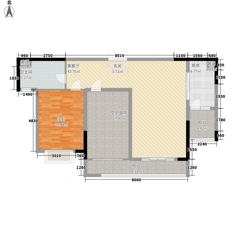 依云水岸1室1厅1卫1厨148.00㎡户型图
