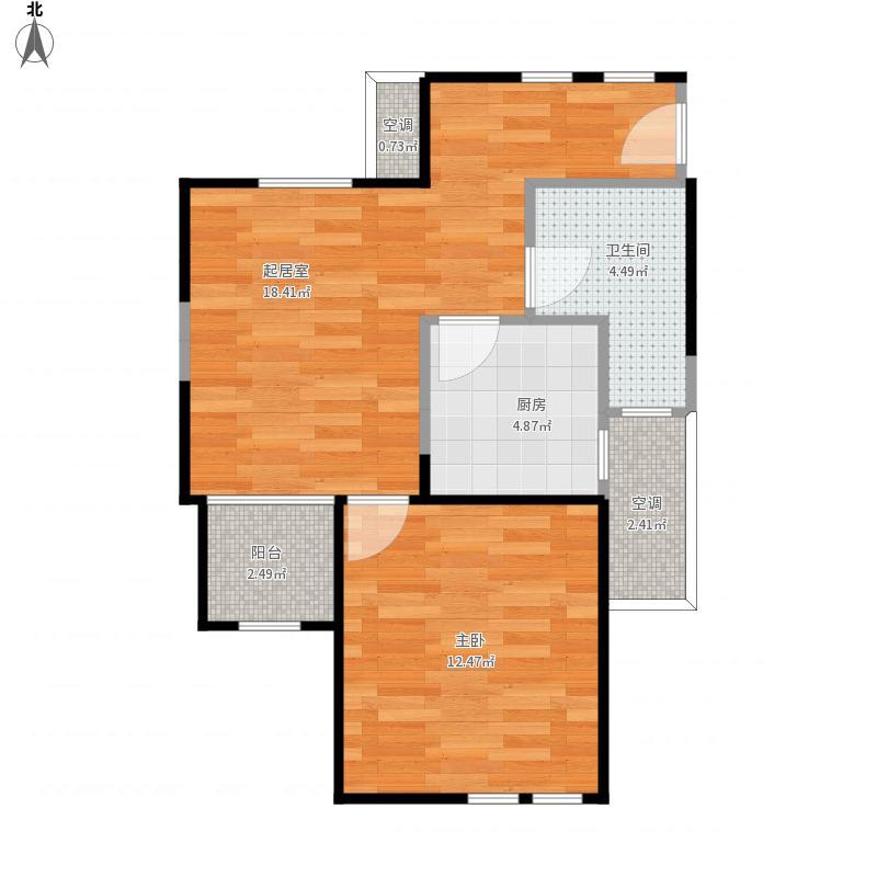 小昆山文晋苑69平米房型