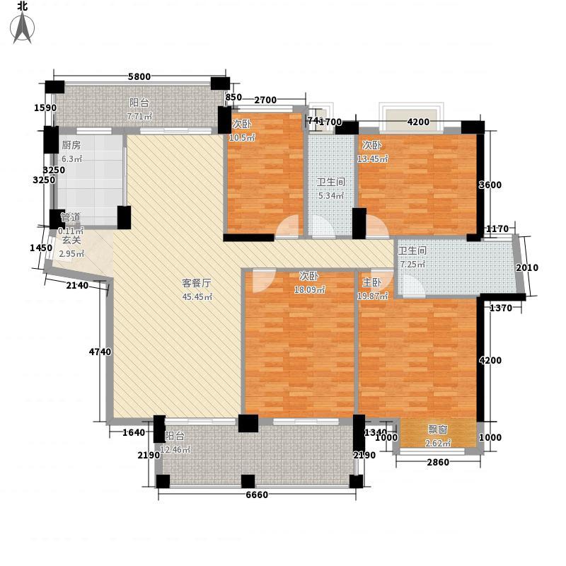 金山湖花园171.20㎡103栋3单元03户型4室2厅2卫