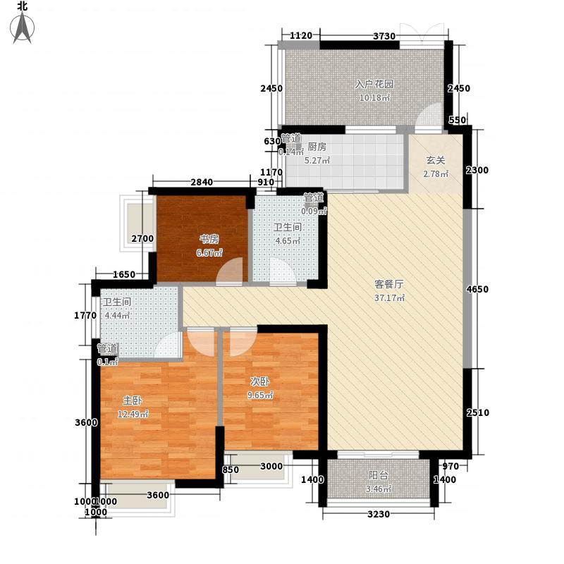 沿海赛洛城124.64㎡G2户型3室2厅2卫
